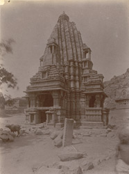 General view of Linga temple of the Chandella period, Bharauli, Jhansi District. 1003733